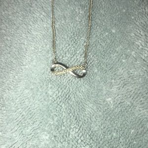infinity sign diamond necklace sterling silver